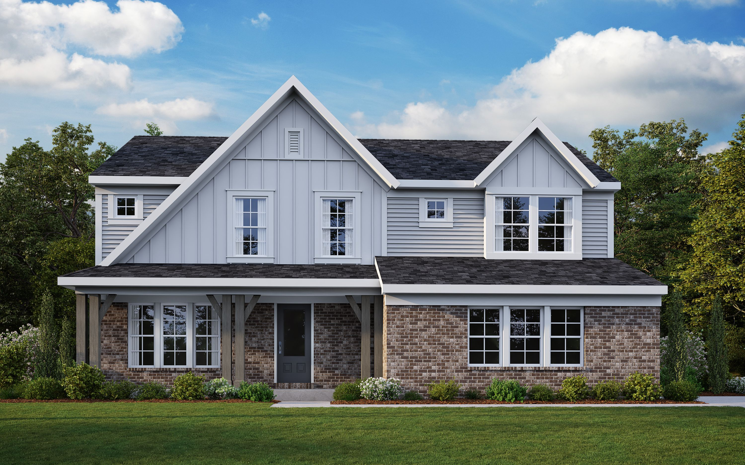 Exterior featured in the Miles By Fischer Homes  in Dayton-Springfield, OH