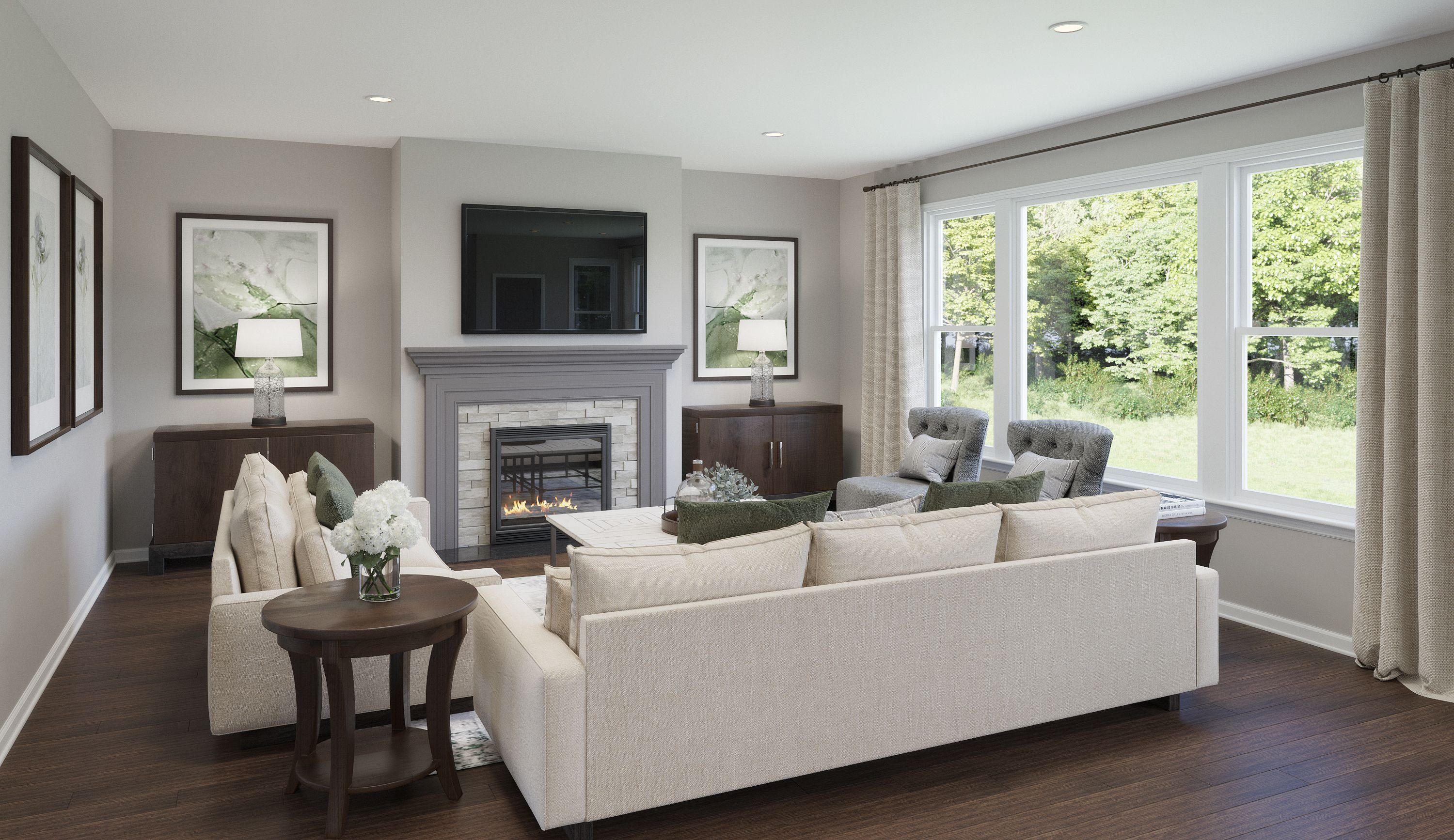 Living Area featured in the Miles By Fischer Homes  in Louisville, KY
