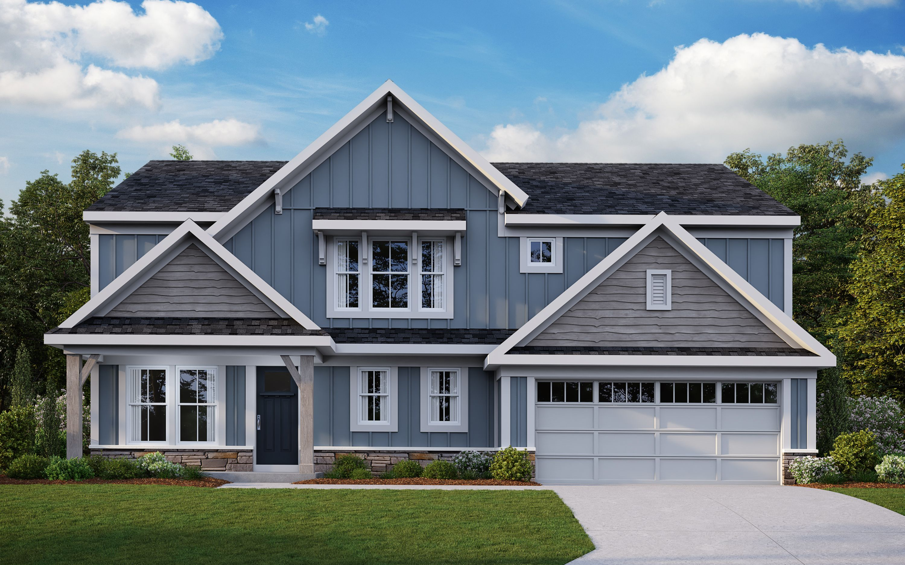 Exterior featured in the Wyatt By Fischer Homes  in Columbus, OH