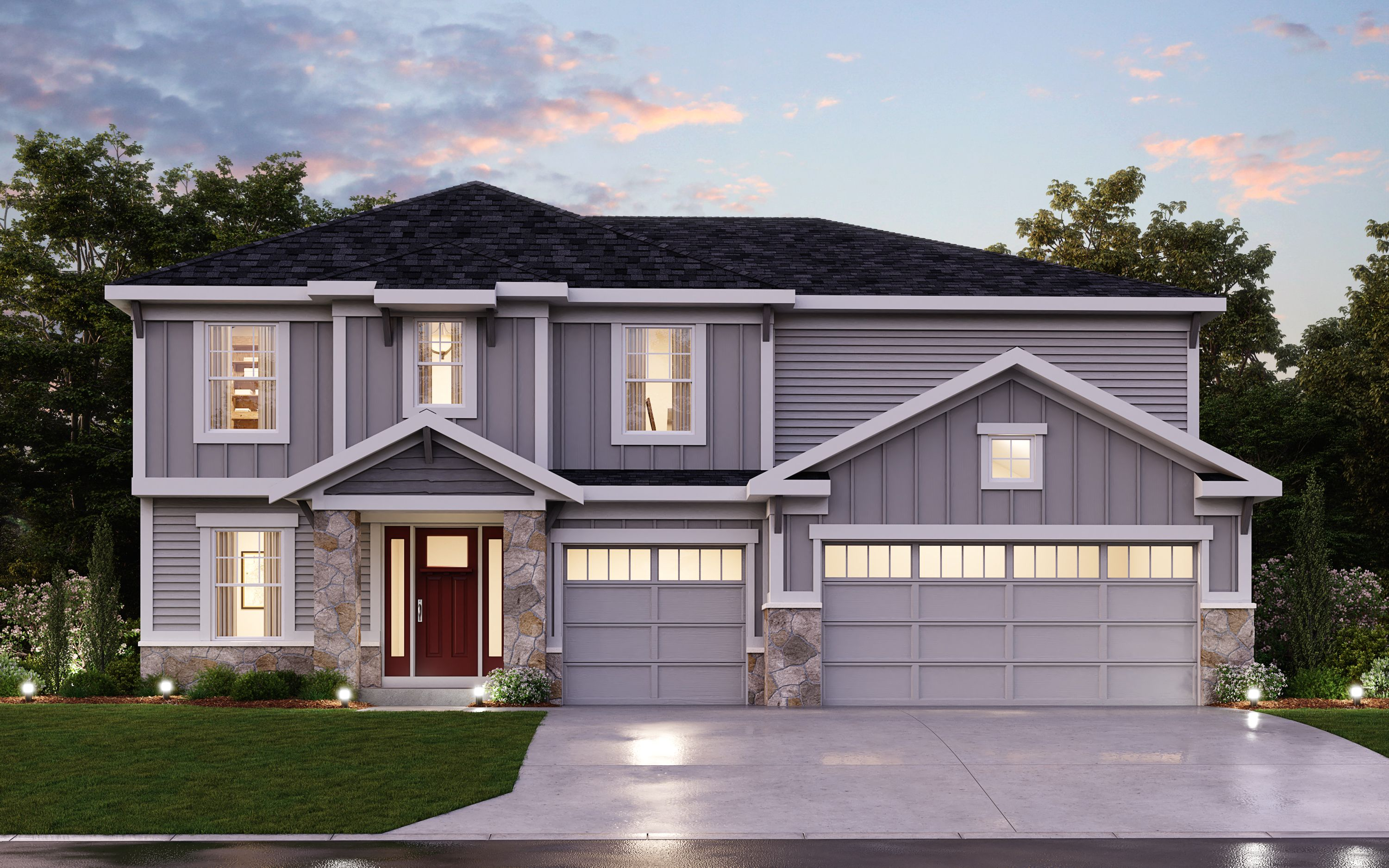 Exterior featured in the Quinn By Fischer Homes  in Columbus, OH