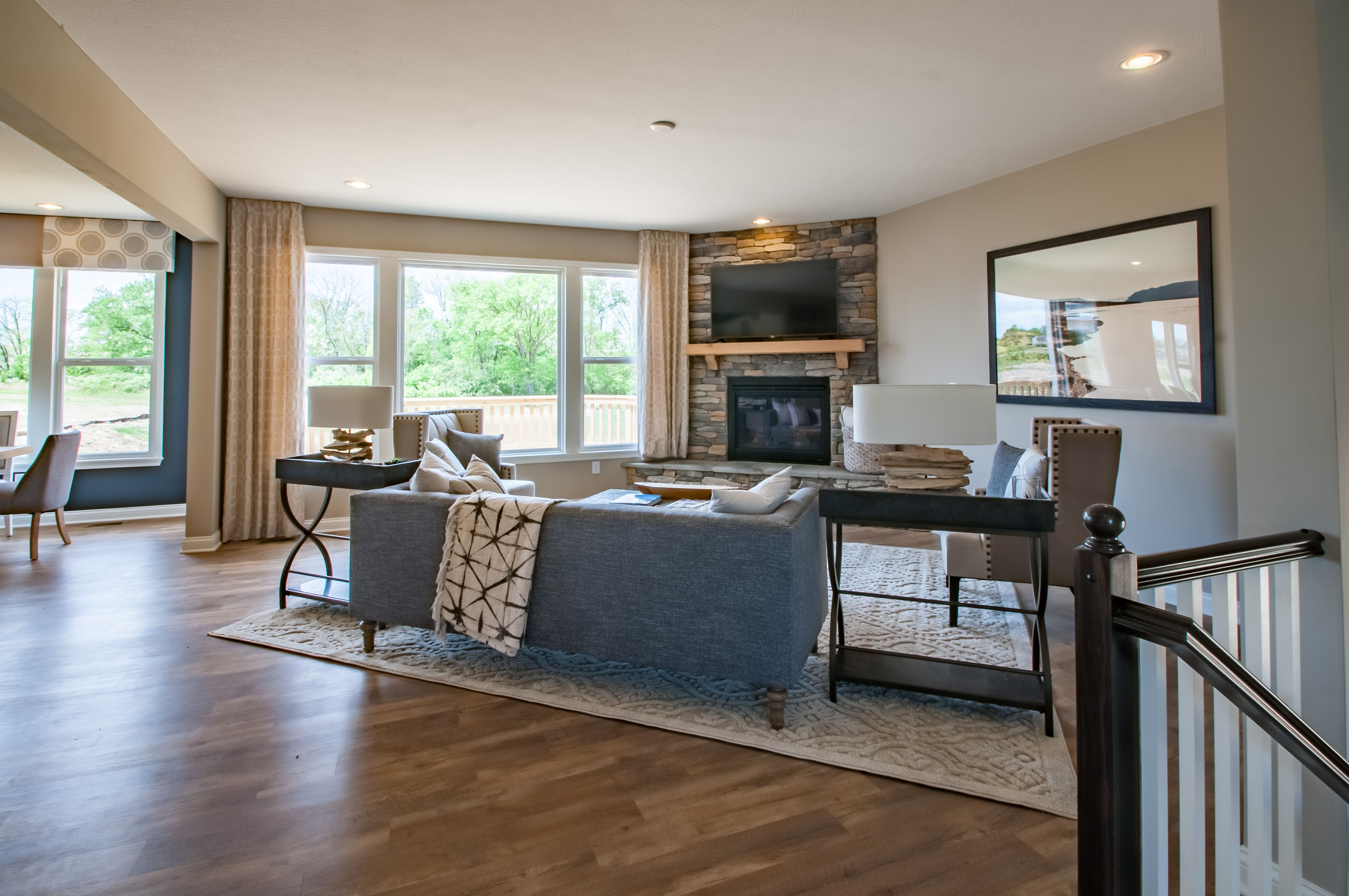 Living Area featured in the Quinn By Fischer Homes  in Columbus, OH