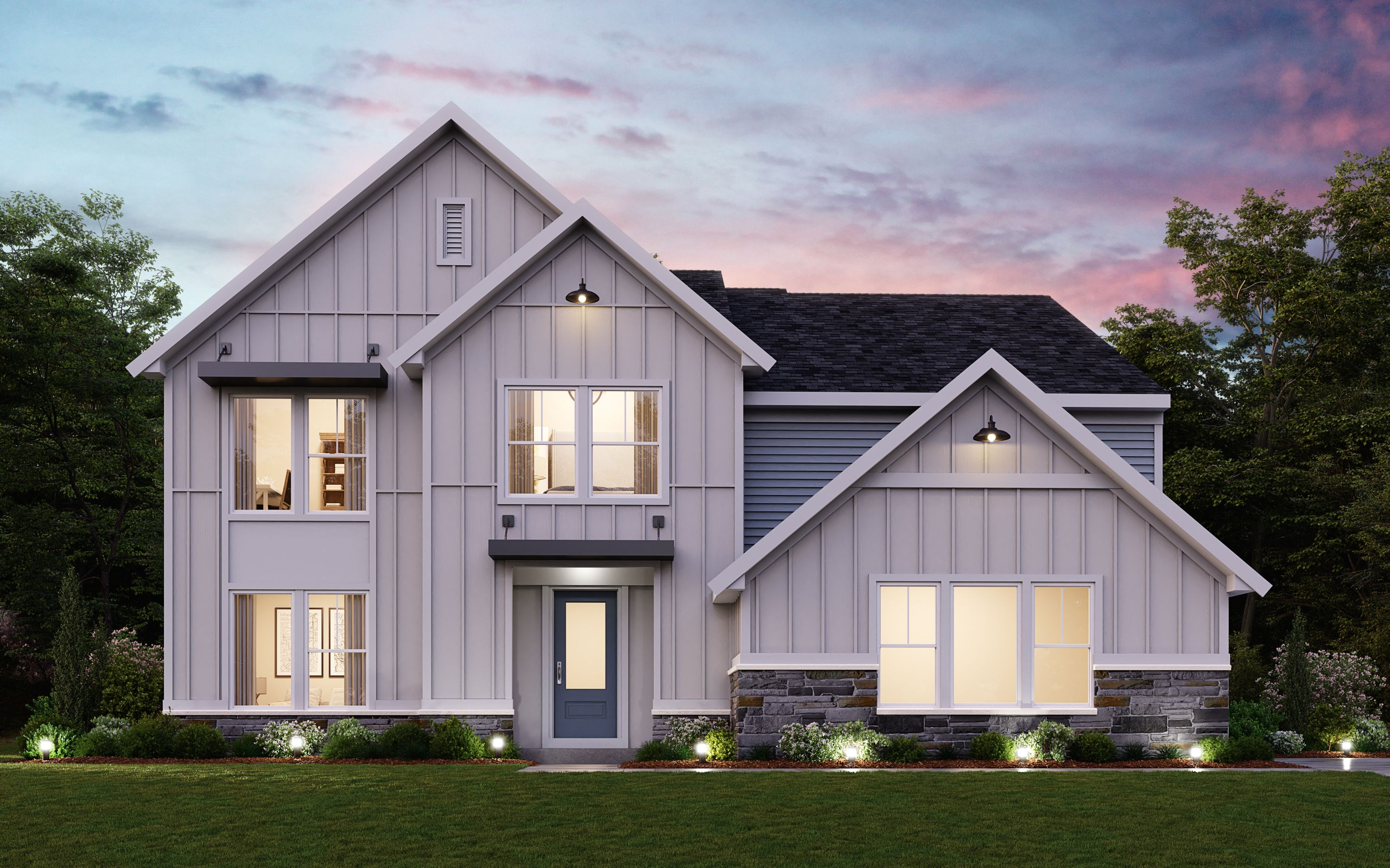 Exterior featured in the Blair By Fischer Homes  in Columbus, OH