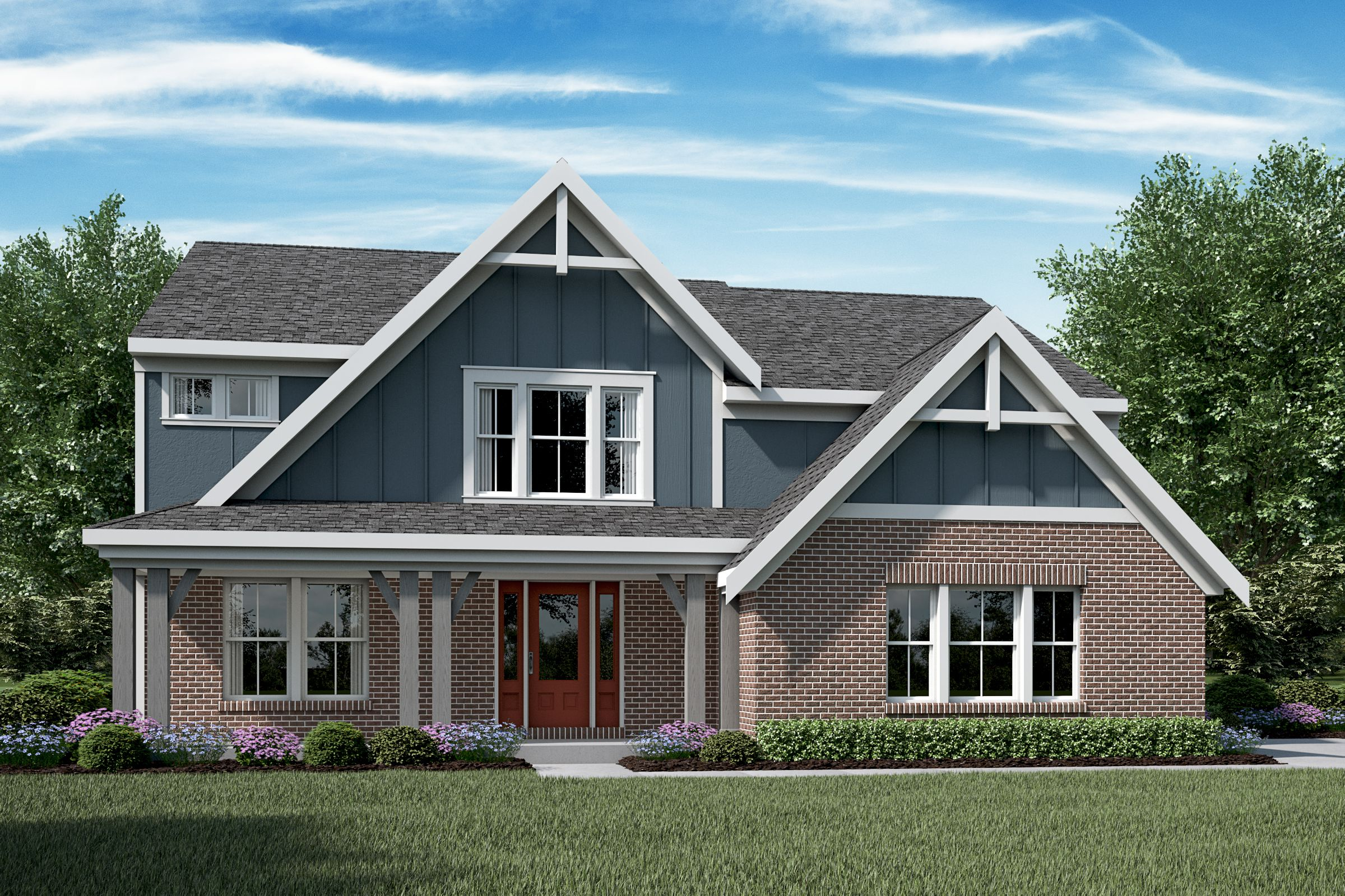 Exterior featured in the Blair By Fischer Homes  in Louisville, KY