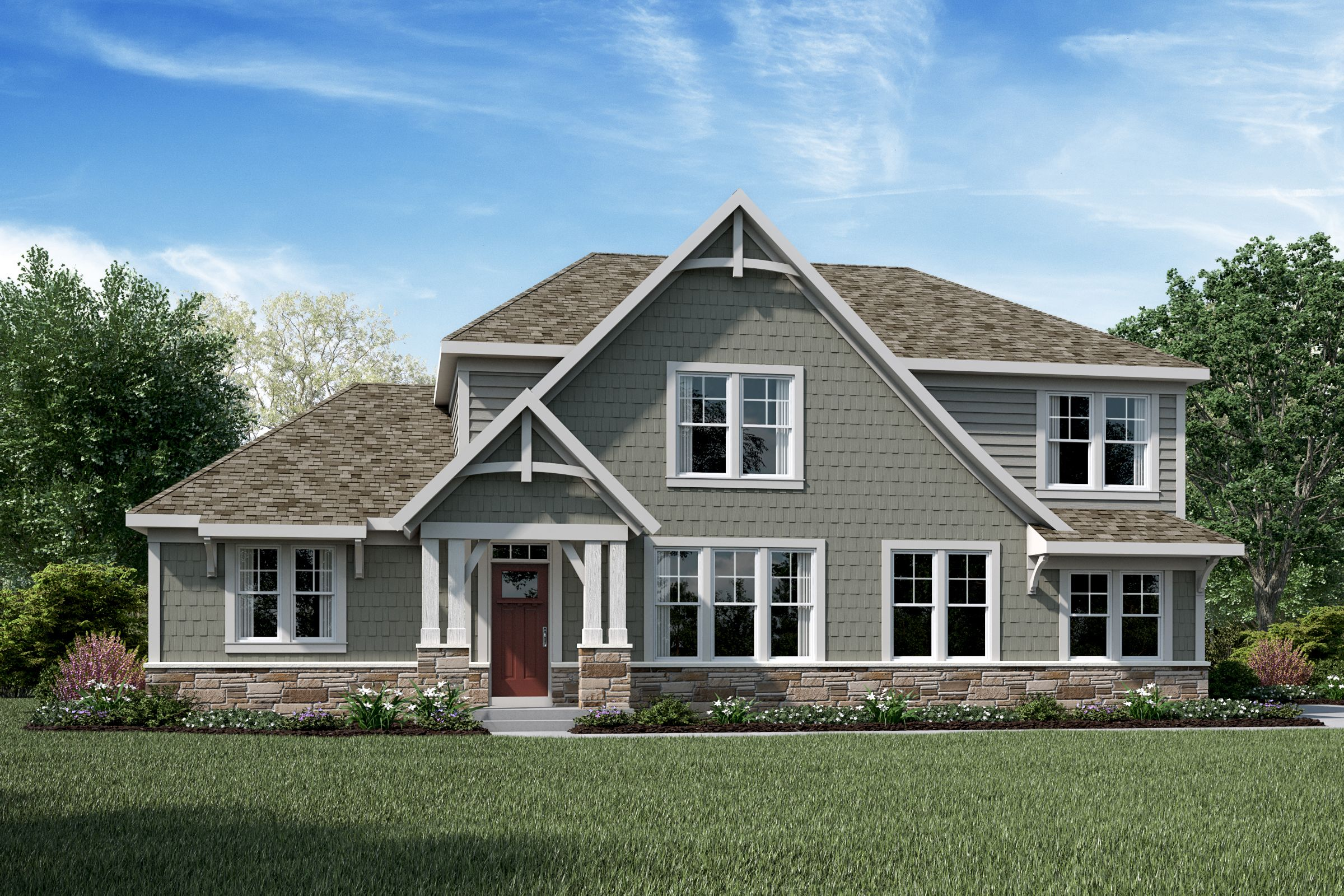Exterior featured in the Leland By Fischer Homes  in Columbus, OH