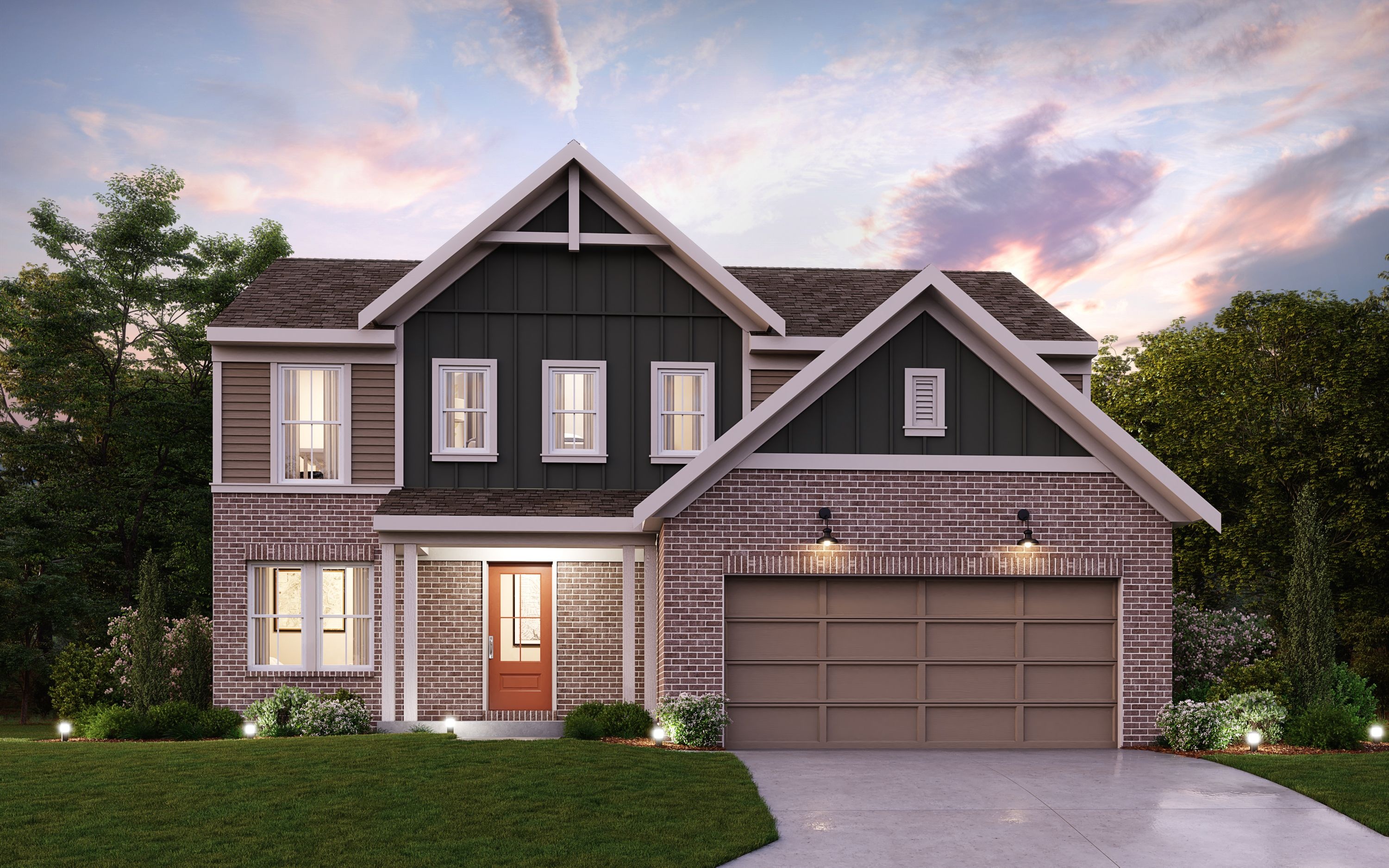 Exterior featured in the Mercer By Fischer Homes  in Louisville, KY