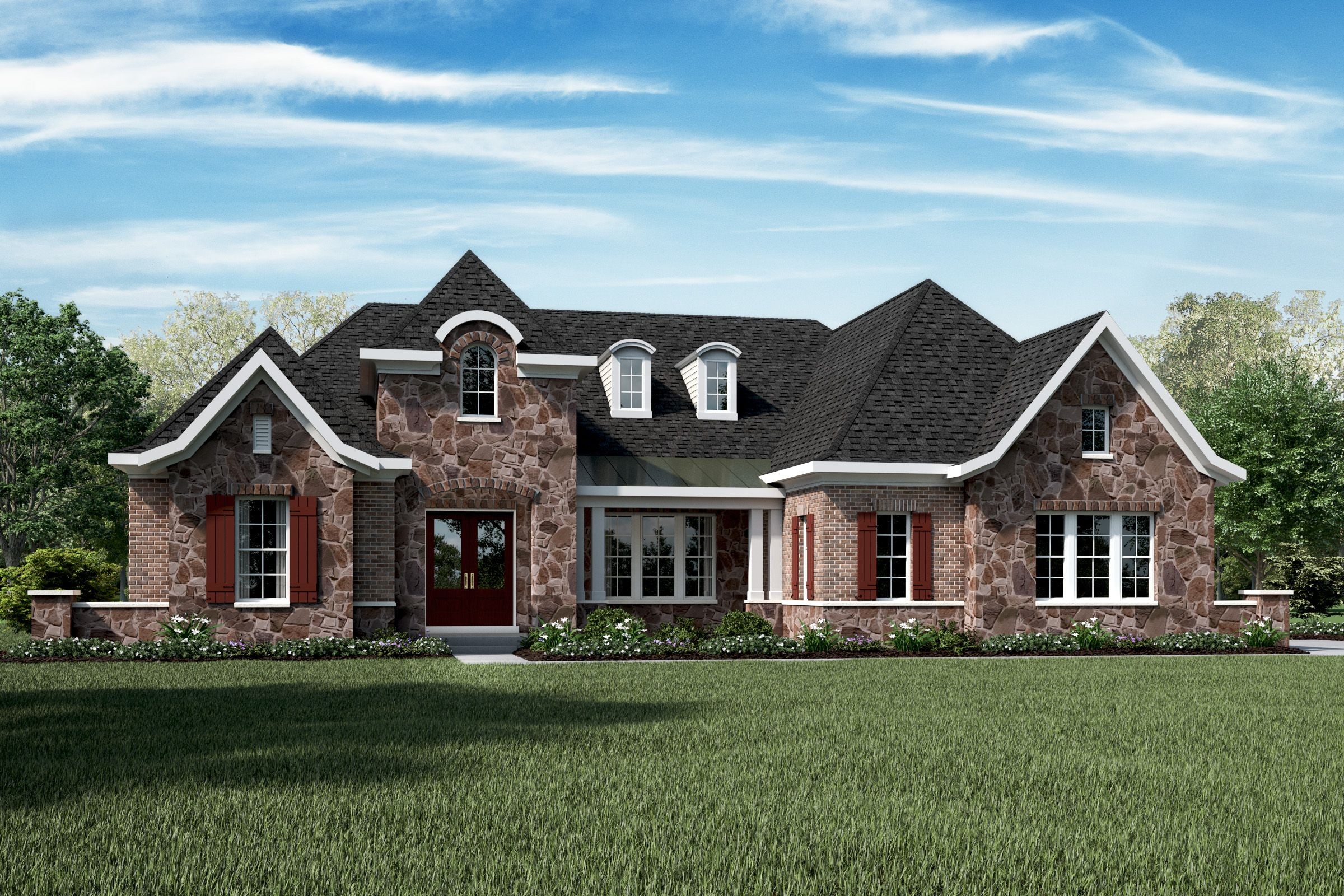 Exterior featured in the Rookwood By Fischer Homes  in Indianapolis, IN