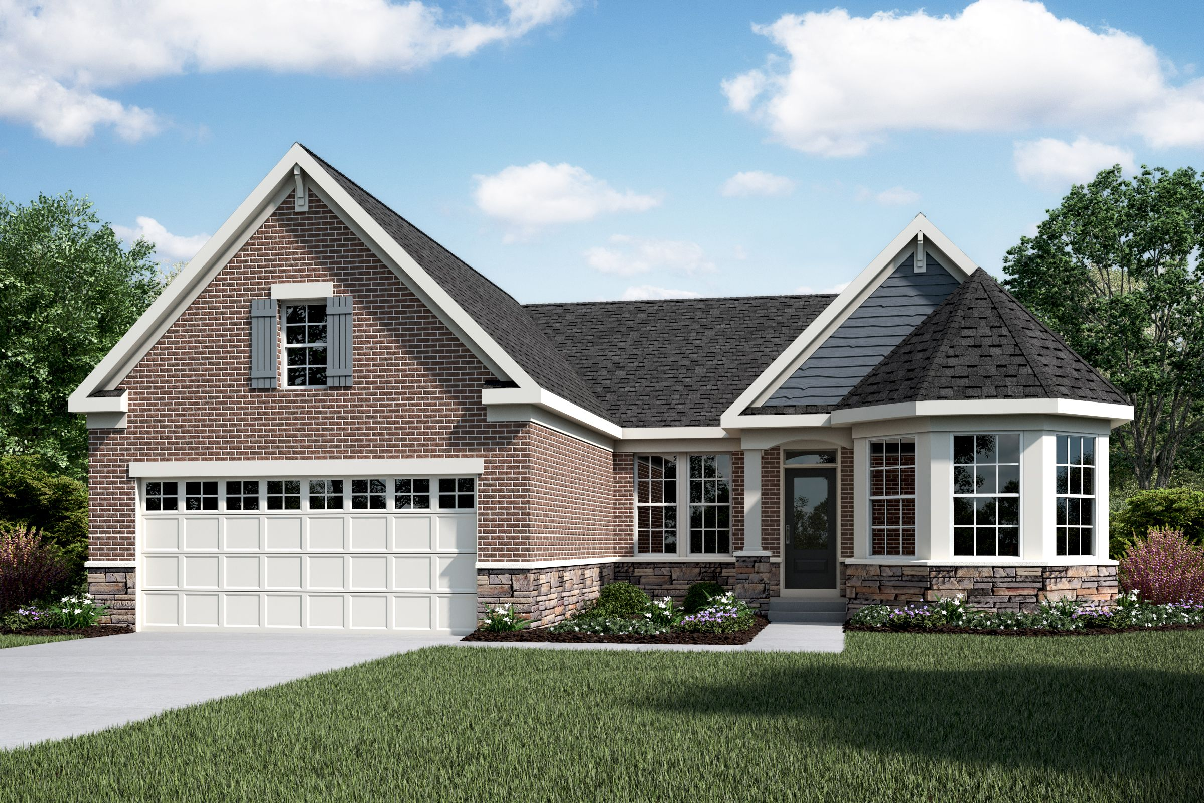 Exterior featured in the Portland By Fischer Homes  in Columbus, OH