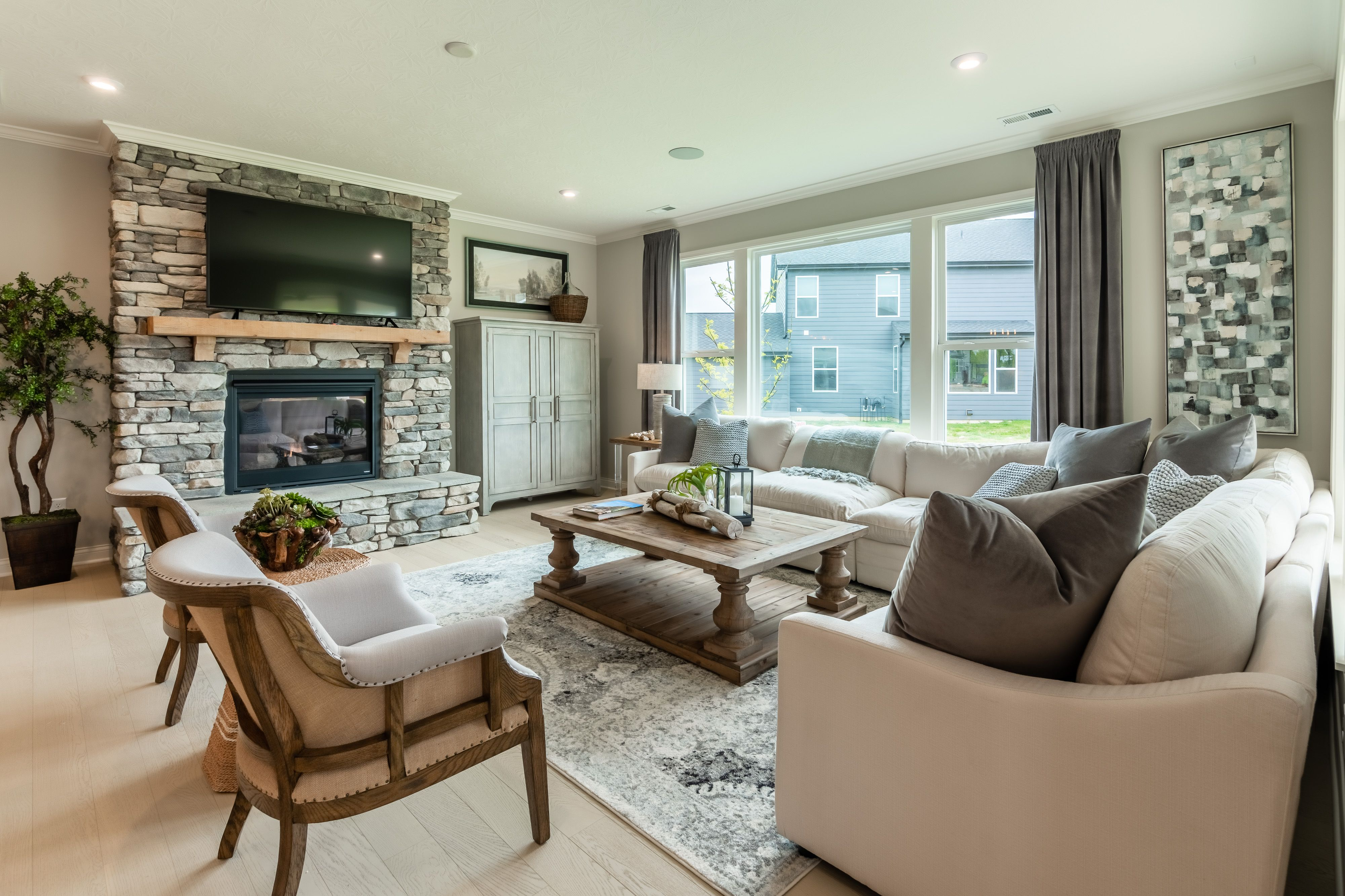 Living Area featured in the Portland By Fischer Homes  in Columbus, OH