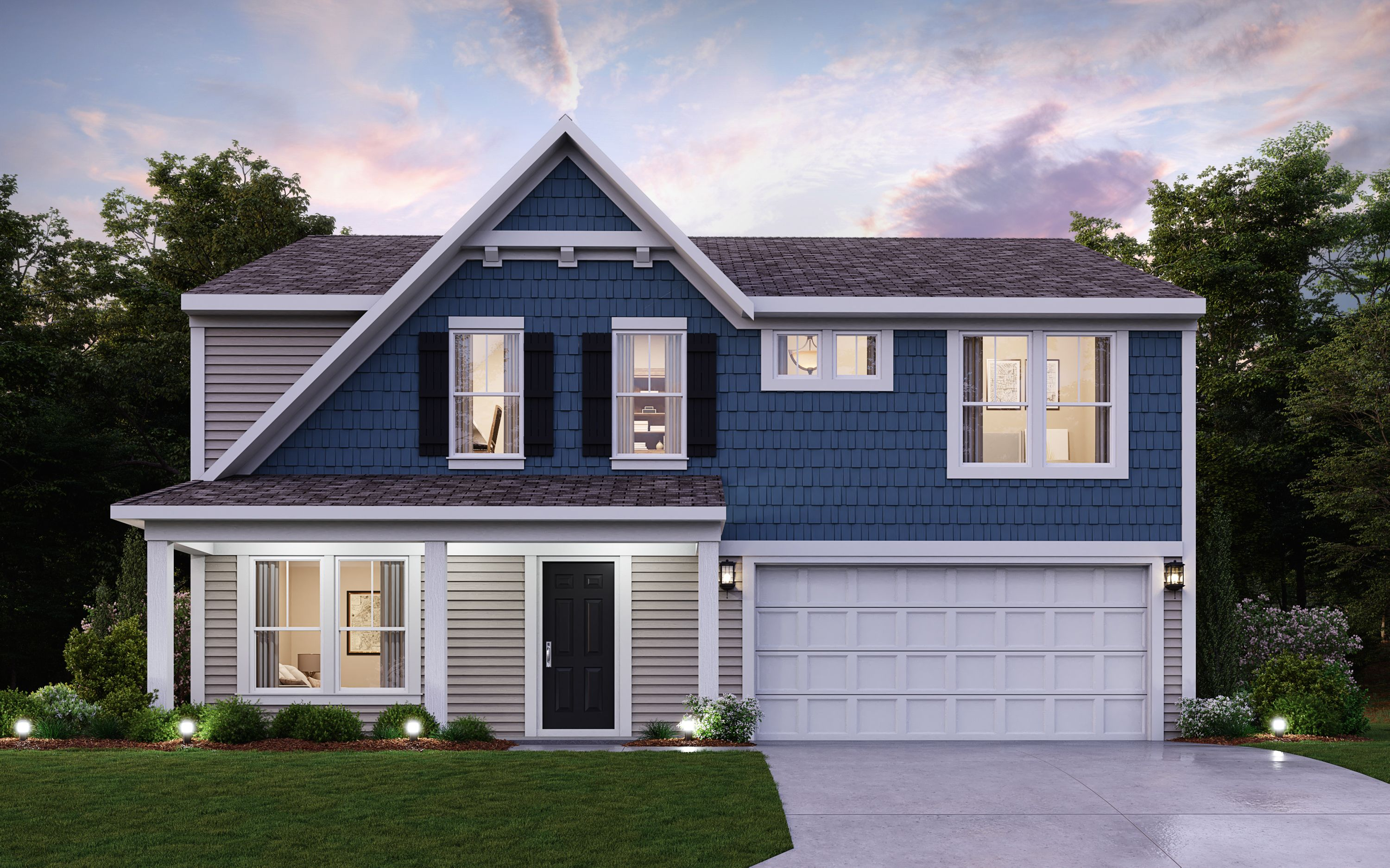 Exterior featured in the Jensen By Fischer Homes  in Louisville, KY