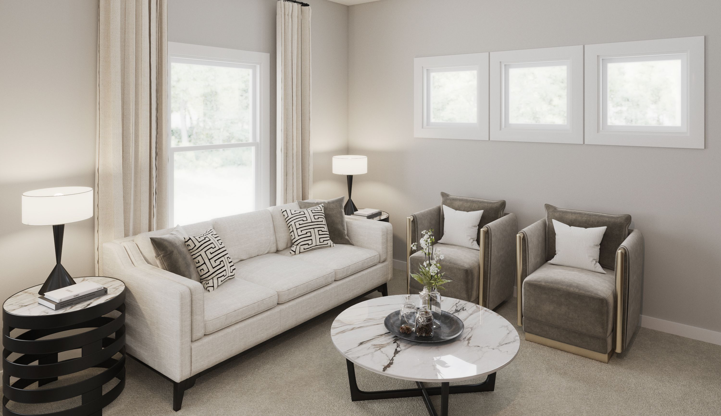 Living Area featured in the Jensen By Fischer Homes  in Louisville, KY