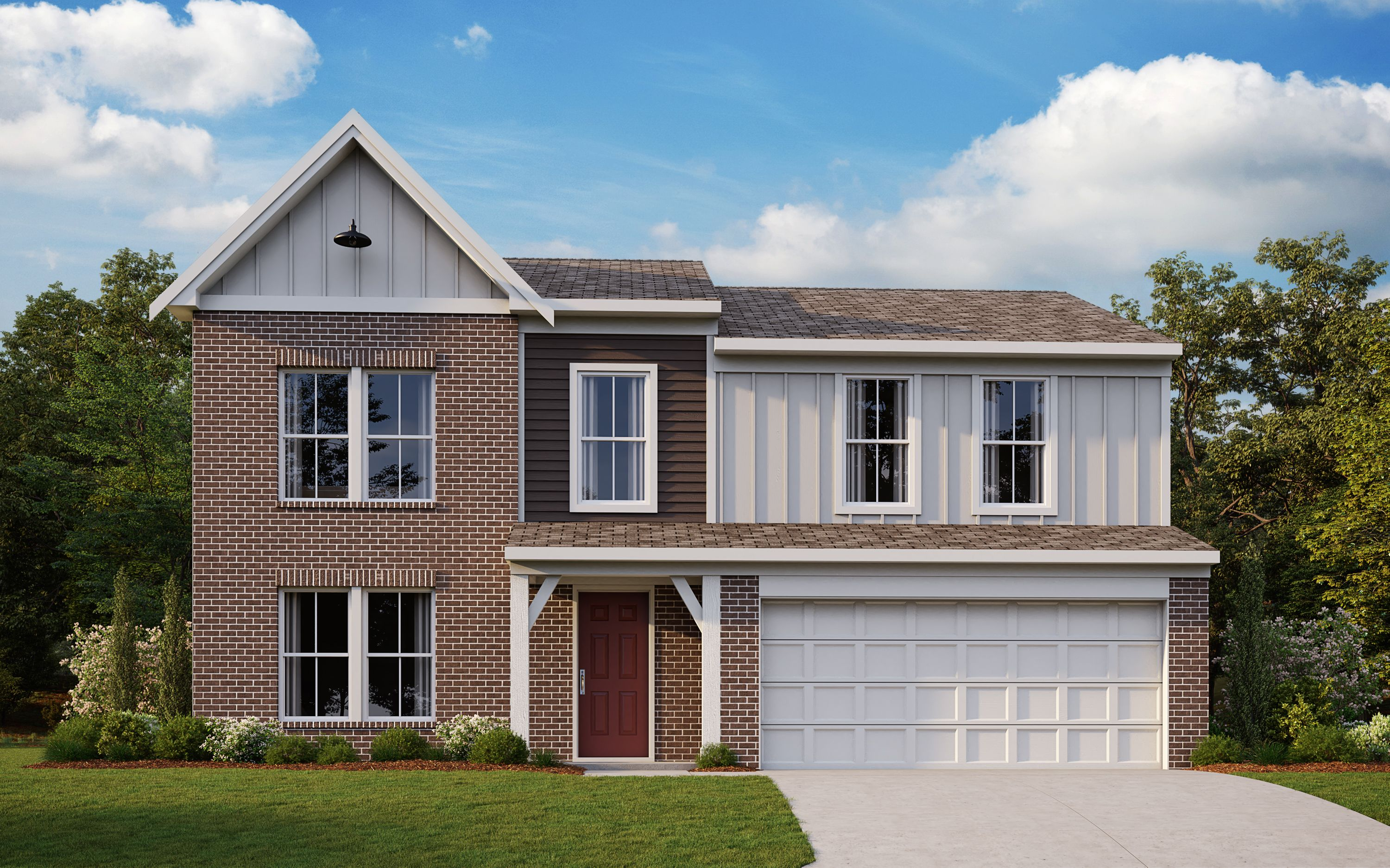 Exterior featured in the Yosemite By Fischer Homes  in Louisville, KY