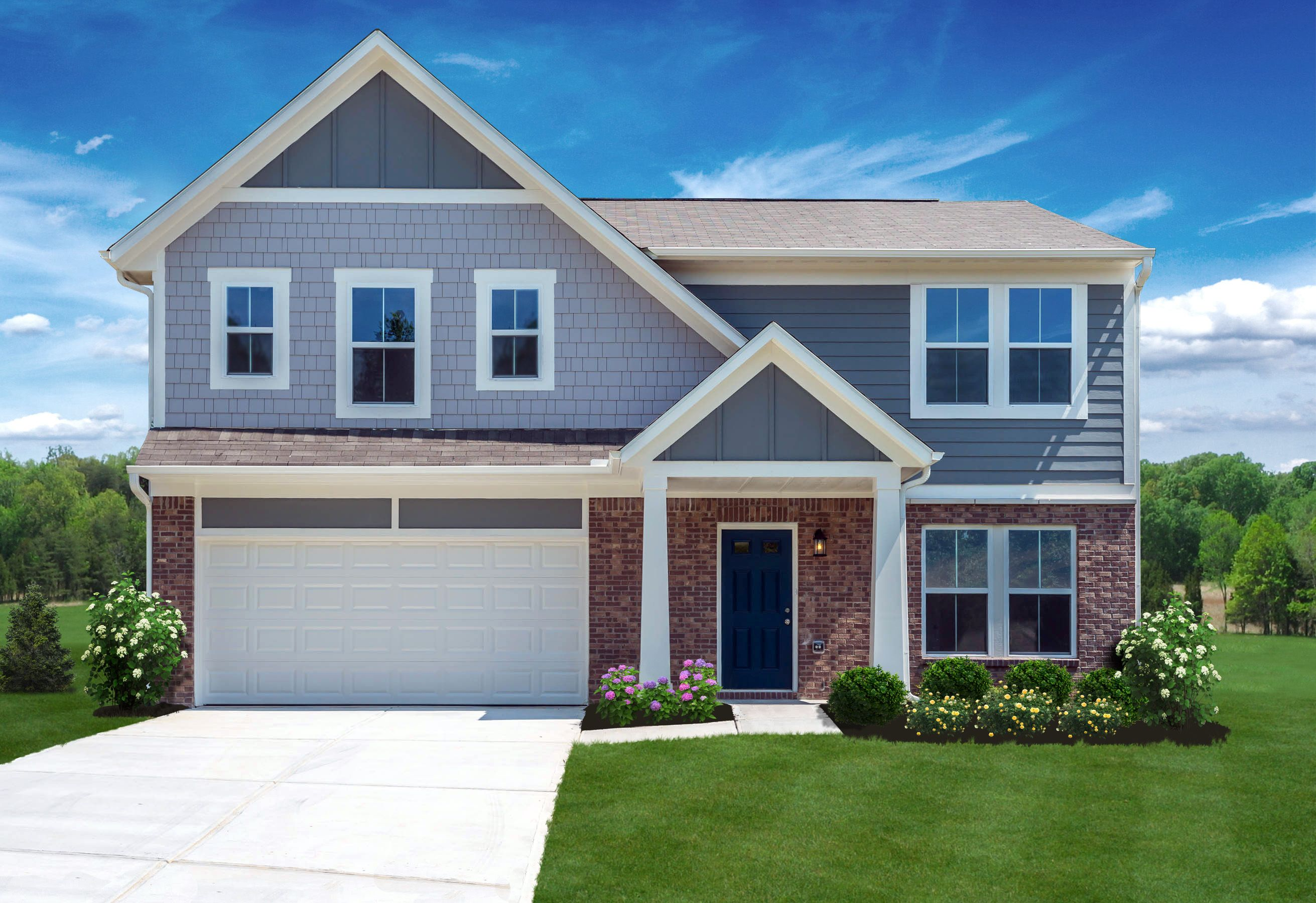 Exterior featured in the Cumberland By Fischer Homes  in Louisville, KY