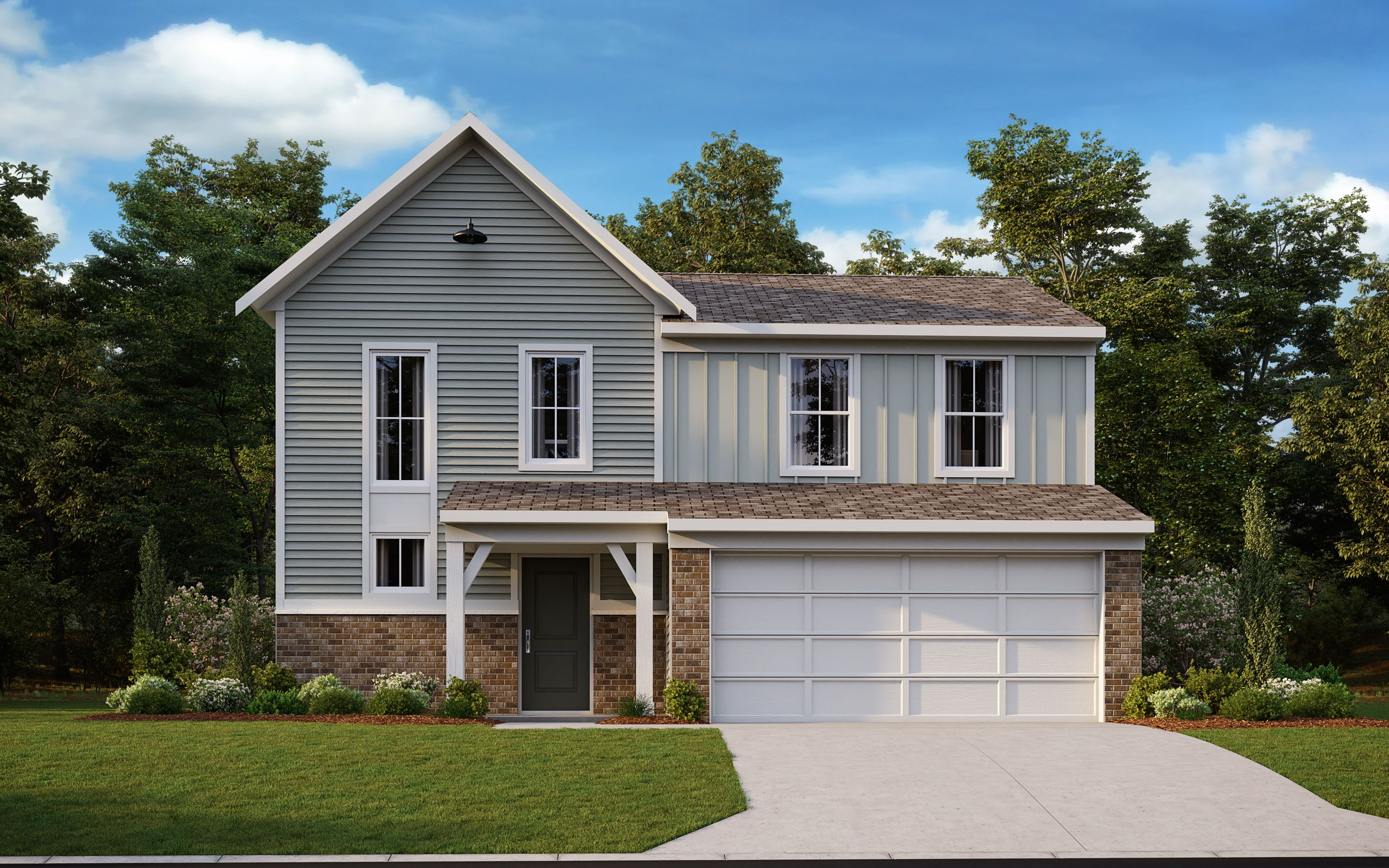 Exterior featured in the Danville By Fischer Homes  in Louisville, KY