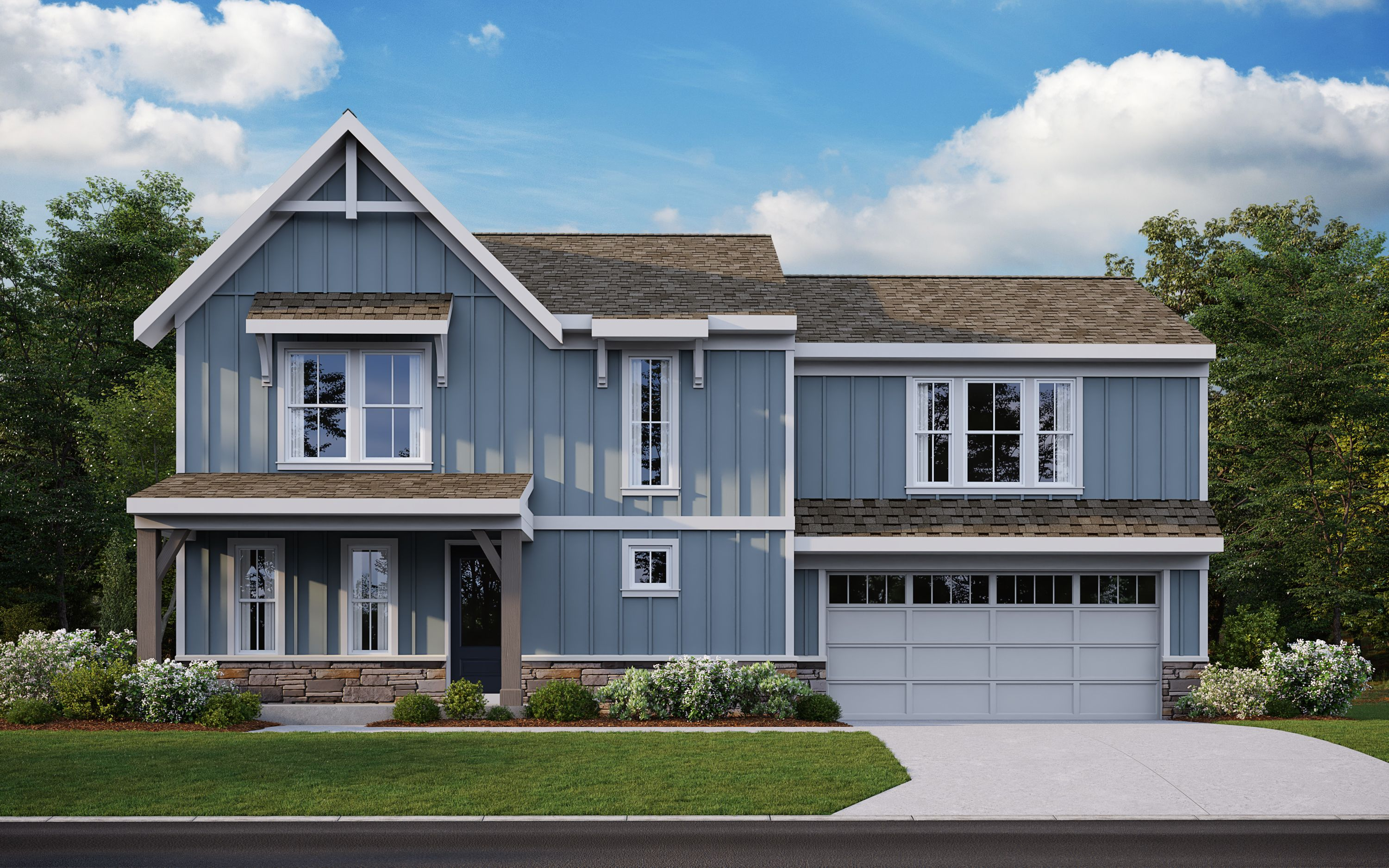 Exterior featured in the Delaney By Fischer Homes  in Louisville, KY