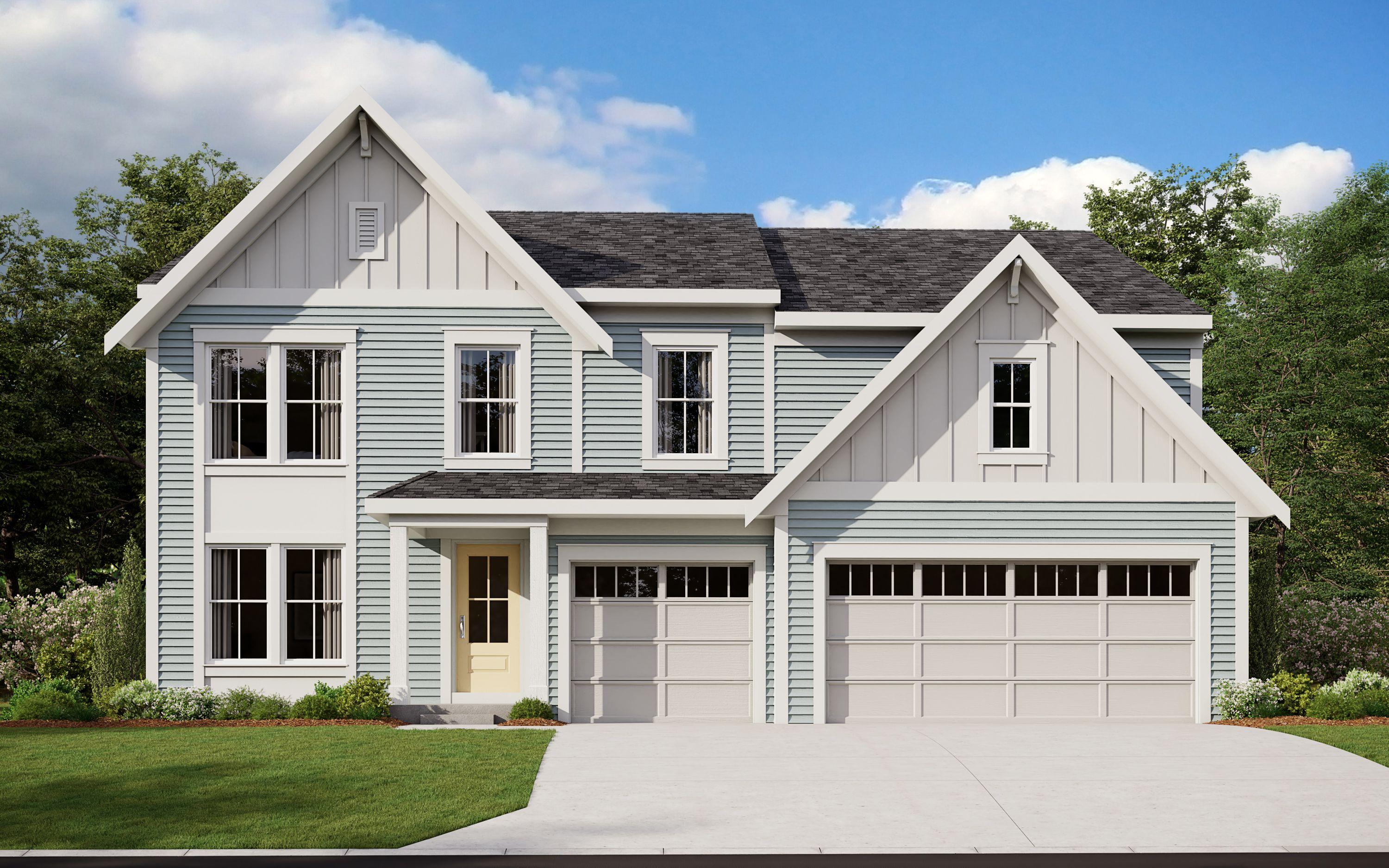 Exterior featured in the Grandin By Fischer Homes  in Louisville, KY