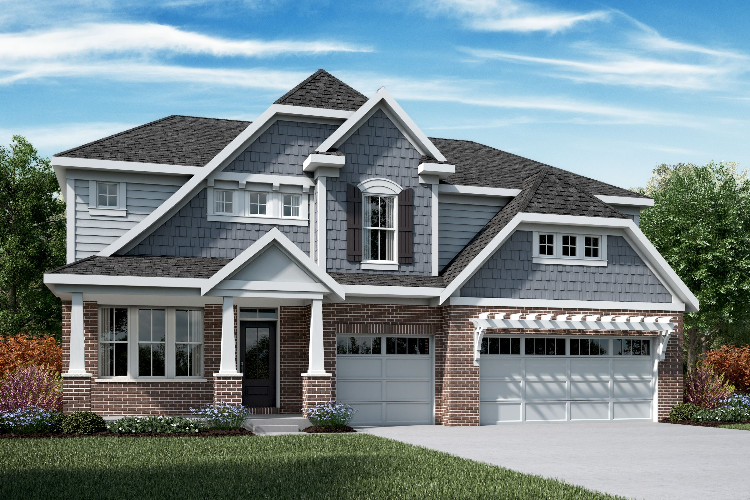 Exterior featured in the Mitchell By Fischer Homes  in Indianapolis, IN