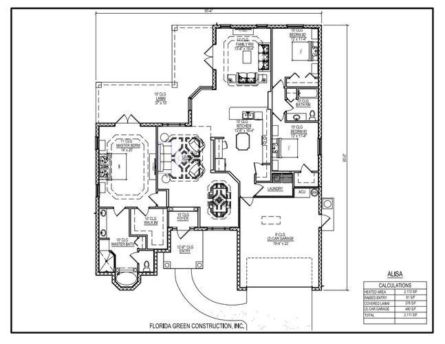 Alisa - Florida Green Construction. Floor plan