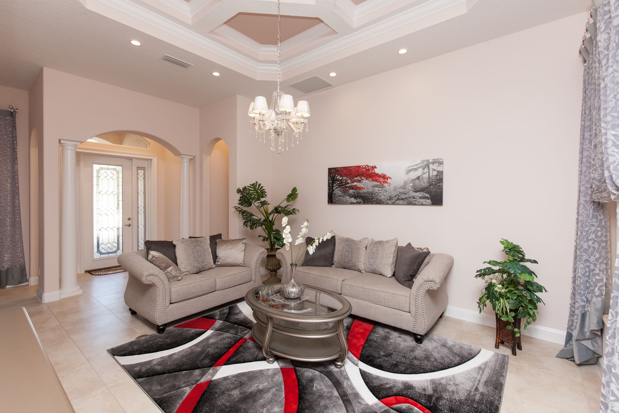 Living Area featured in the ALISA. Certified Green home By Florida Green Construction