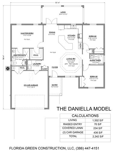 Daniella floor plan