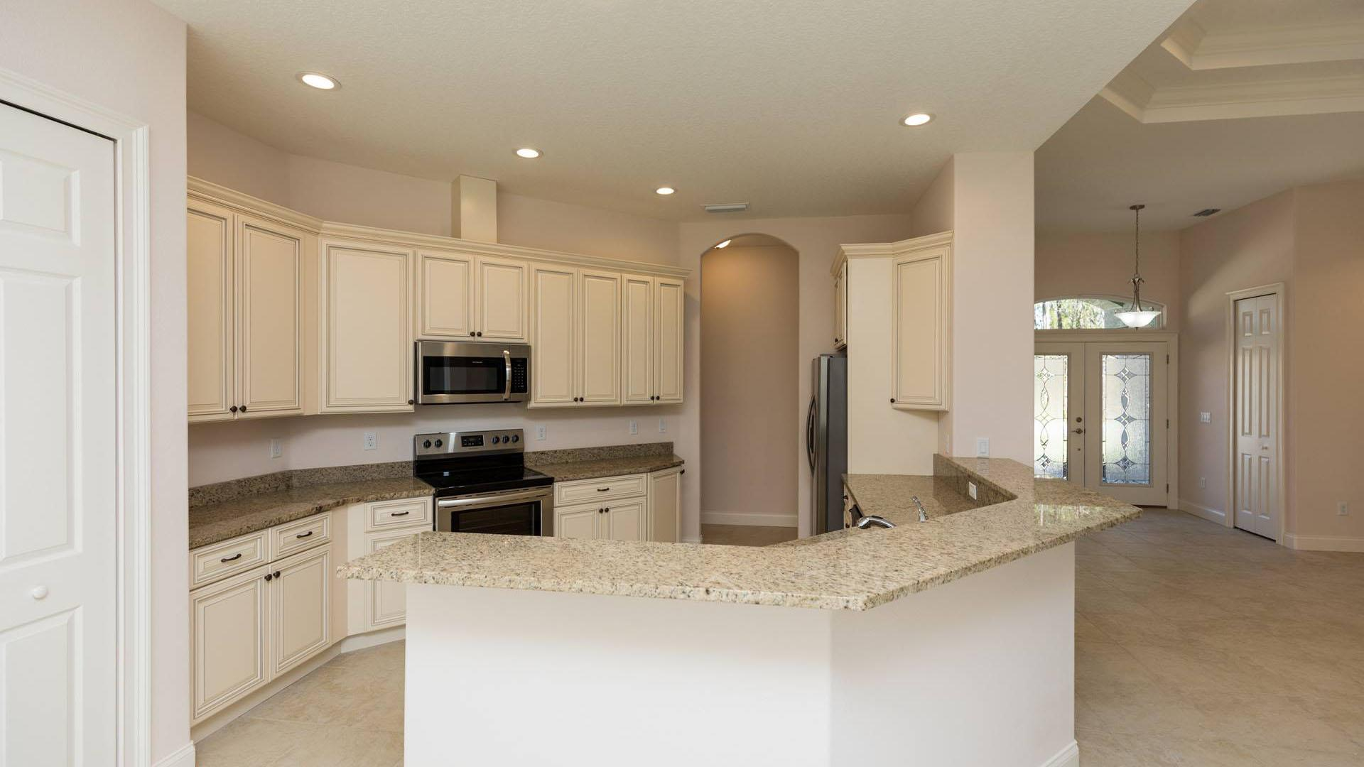 Kitchen featured in the LUCY. Certified Green home By Florida Green Construction