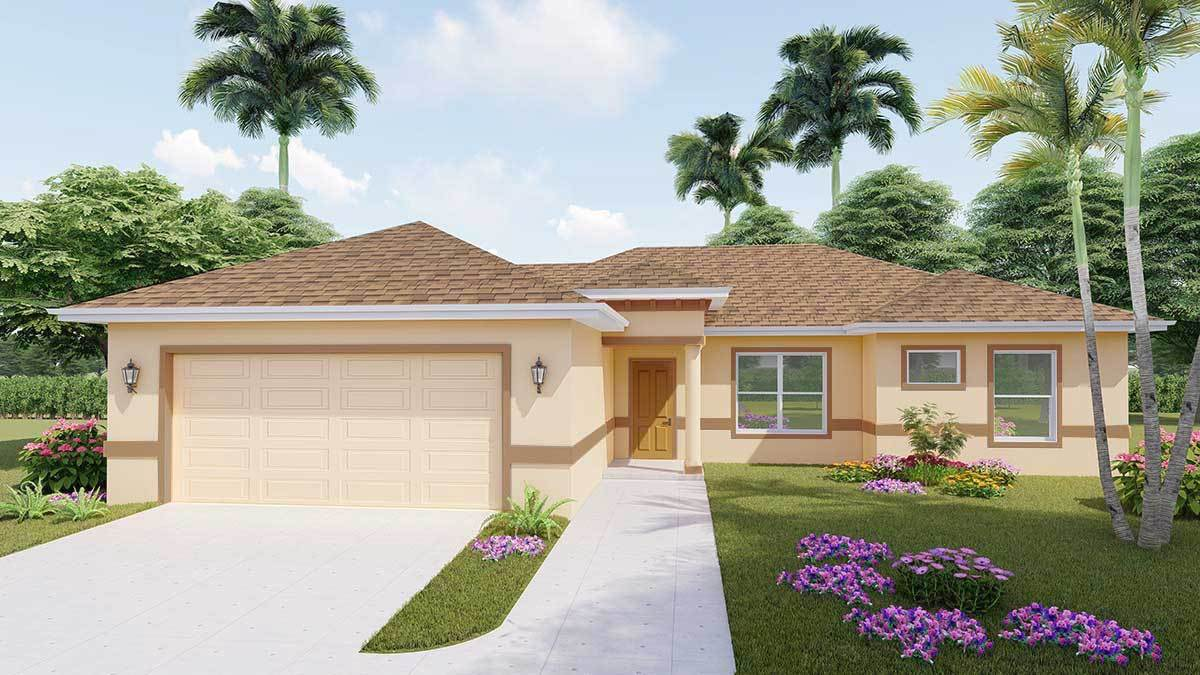 Exterior featured in the SUSAN. Aging-in-place Certified Green home By Florida Green Construction