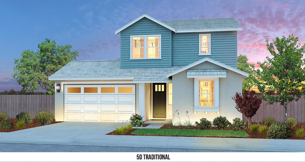 Exterior featured in THE UPTOWN By Florsheim Homes in Modesto, CA