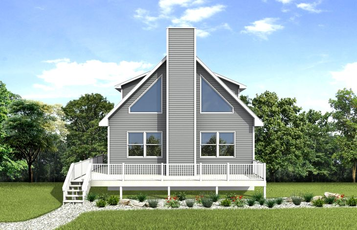 Shawnee Rendering:Our Shawnee model is a beautiful two story chalet home that allows lots of natural light!