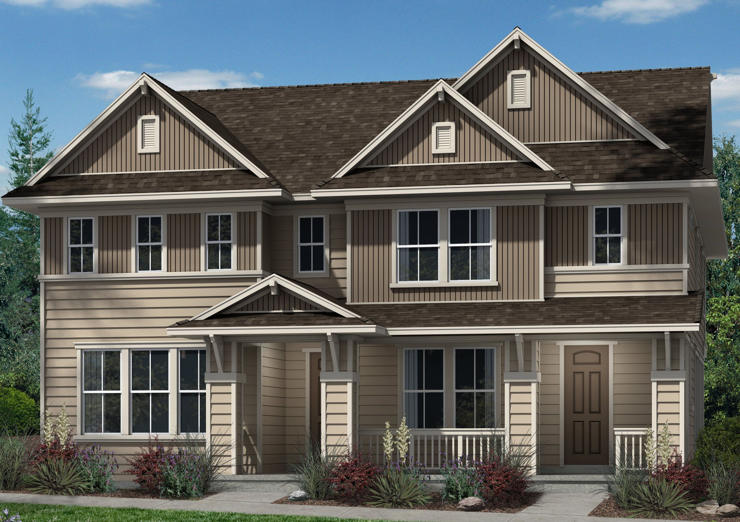 Exterior featured in the Plan 1574 by KB Home By Central Park in Denver, CO