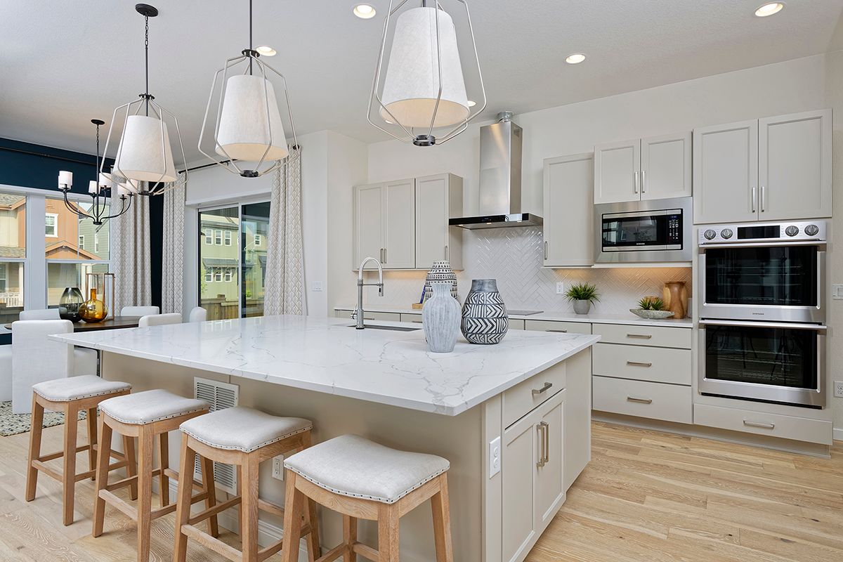 Kitchen featured in the Revive by Thrive Home Builders By Central Park in Denver, CO