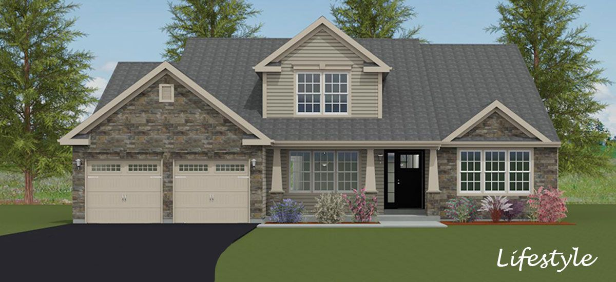 Exterior featured in the Nantucket By Forino Homes in Reading, PA