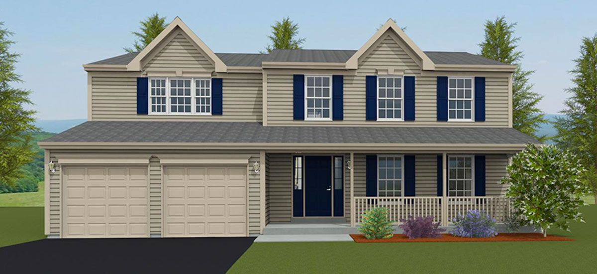 Exterior featured in the Stafford I By Forino Homes in Reading, PA