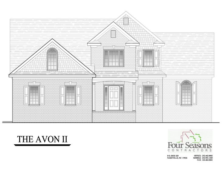 The Avon II Front Elevation