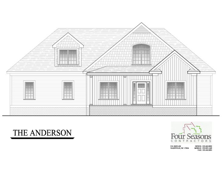 The Anderson:Front Elevation