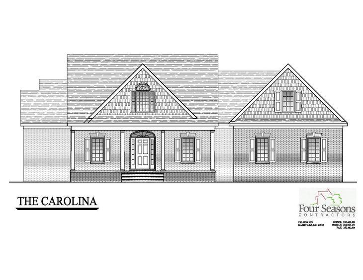 The Carolina:Front Elevation