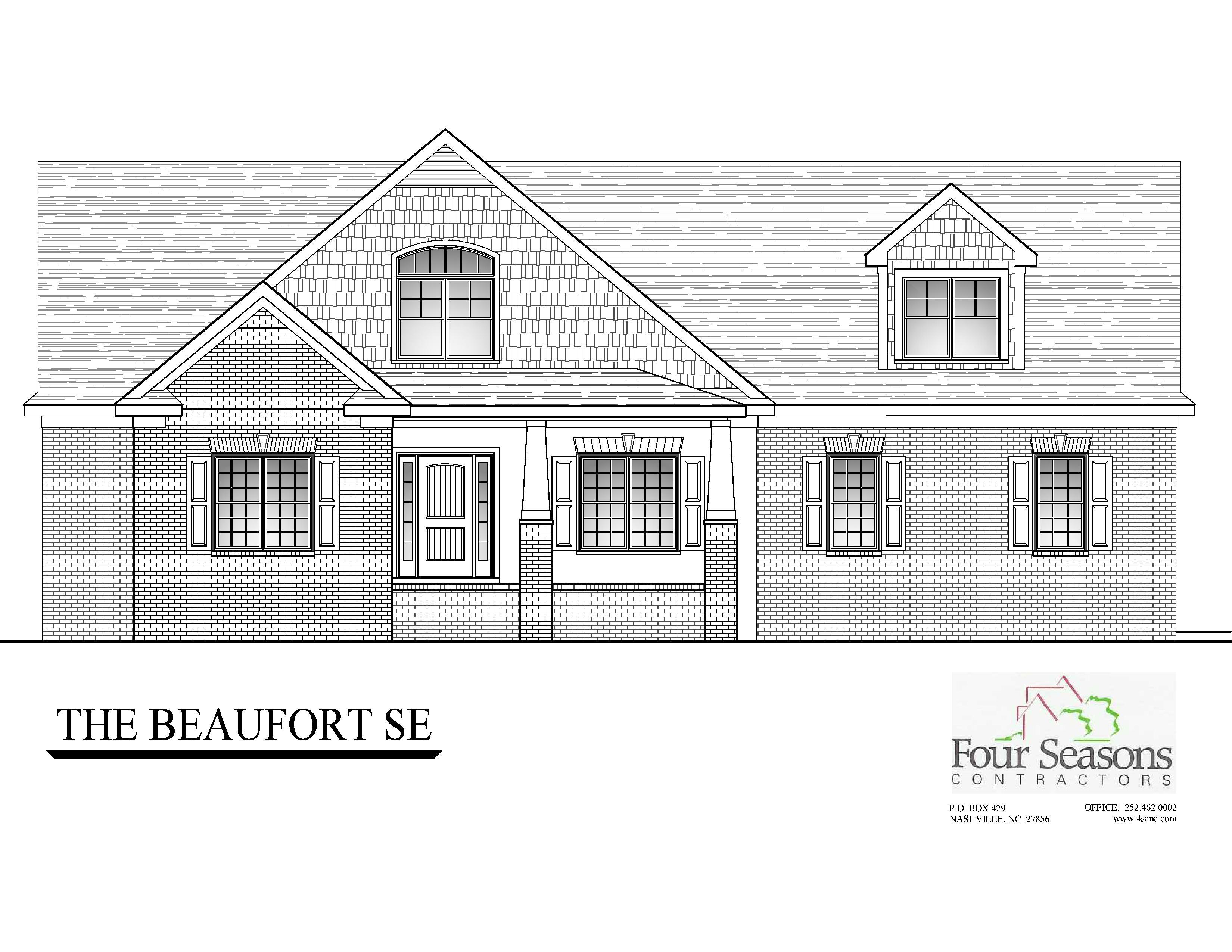 Exterior featured in The Beaufort Floor Plan By Four Seasons Contractors in Rocky Mount, NC