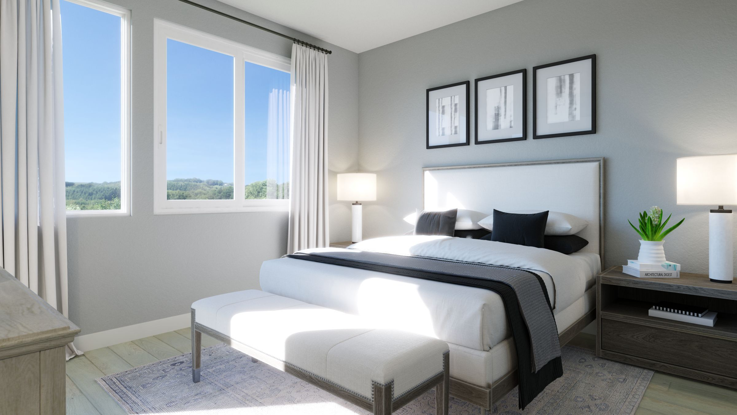 Bedroom featured in the Residence 1 By G3 Urban in Los Angeles, CA