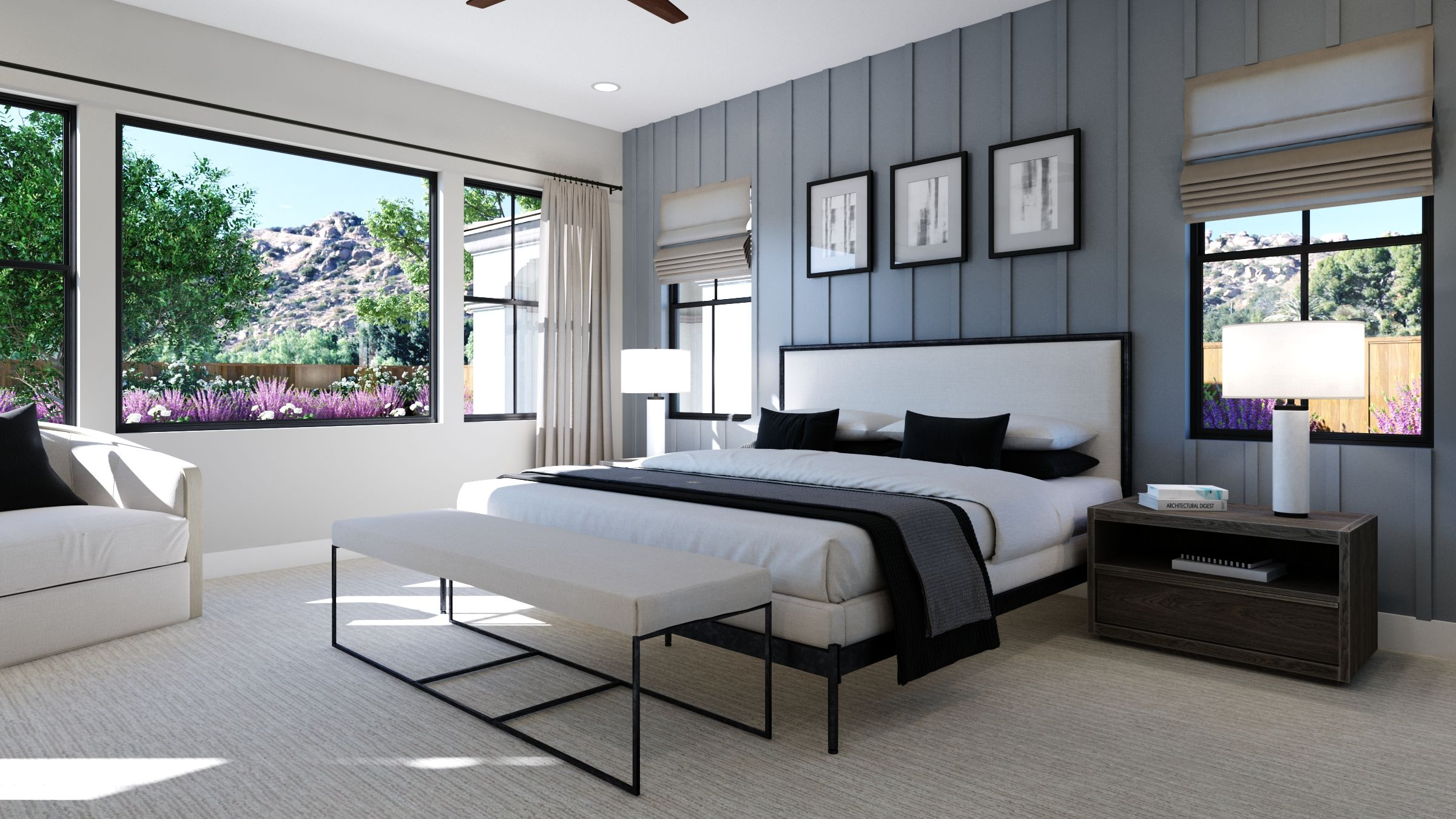 Bedroom featured in the Estate One By G3 Urban in Los Angeles, CA