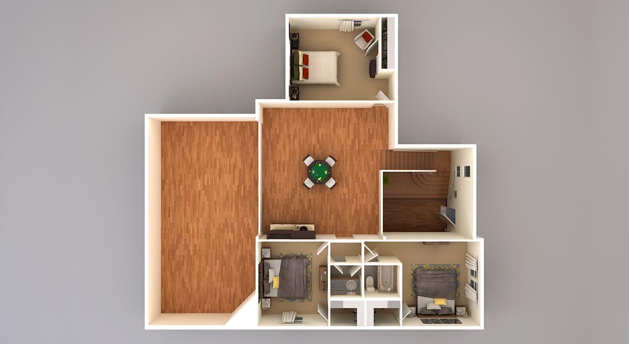5236 3D Second Floor Plan