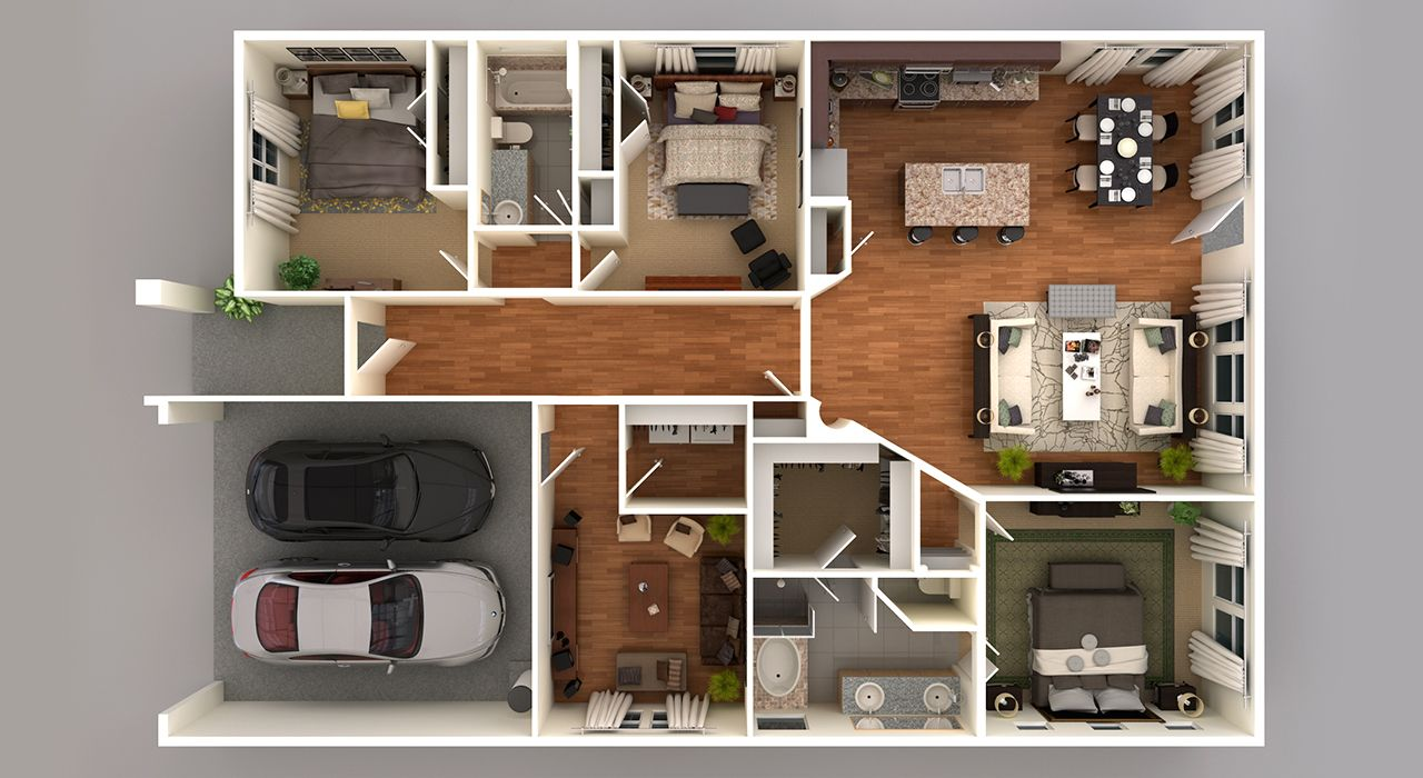 4119 3D Floor Plan