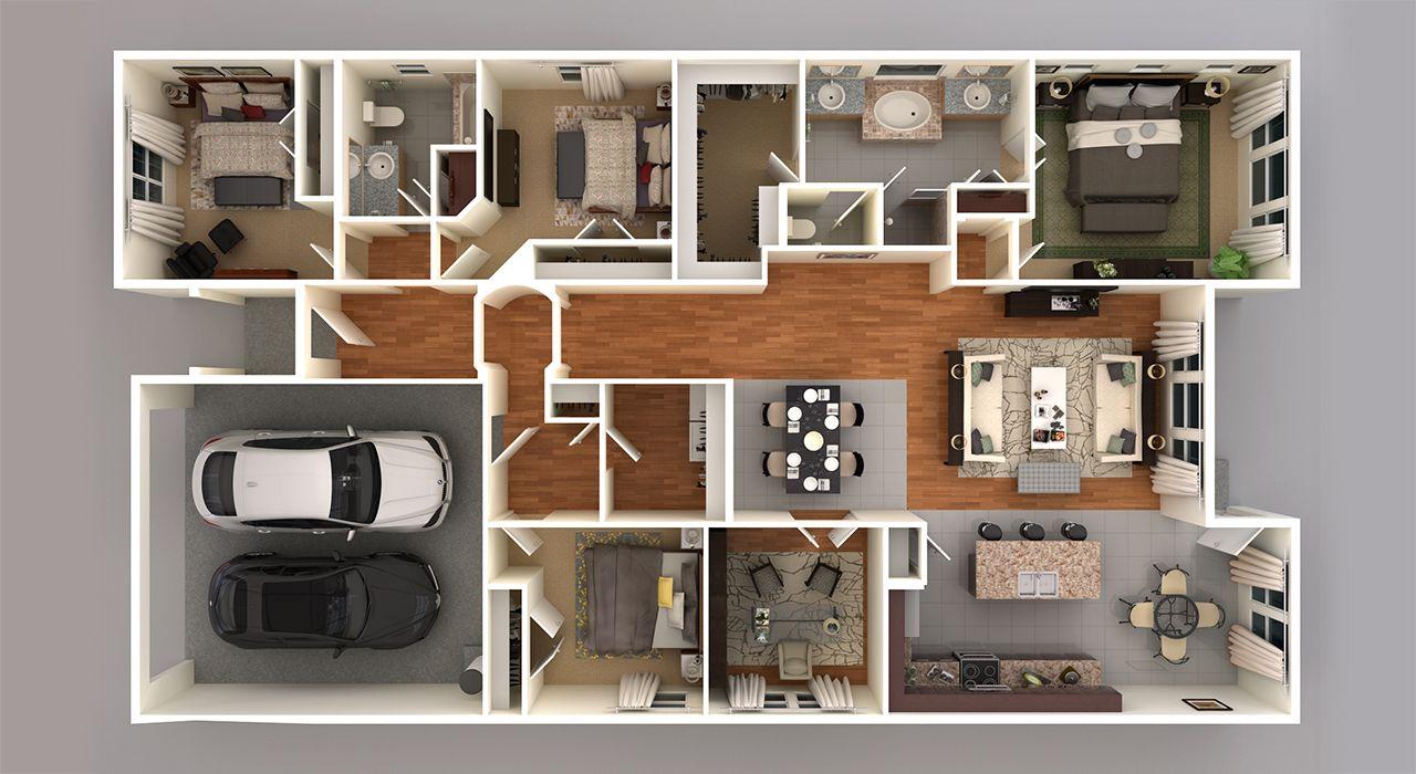 4122 3D Floor Plan