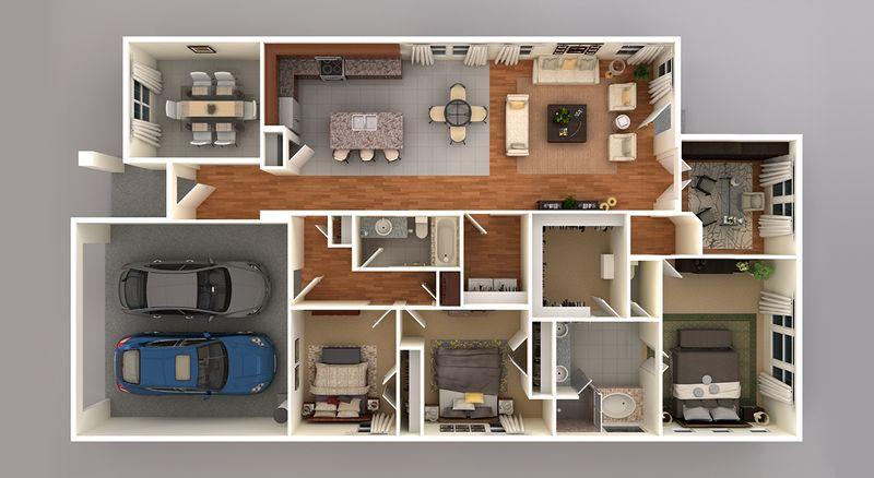 Monroe 3D Floor Plan