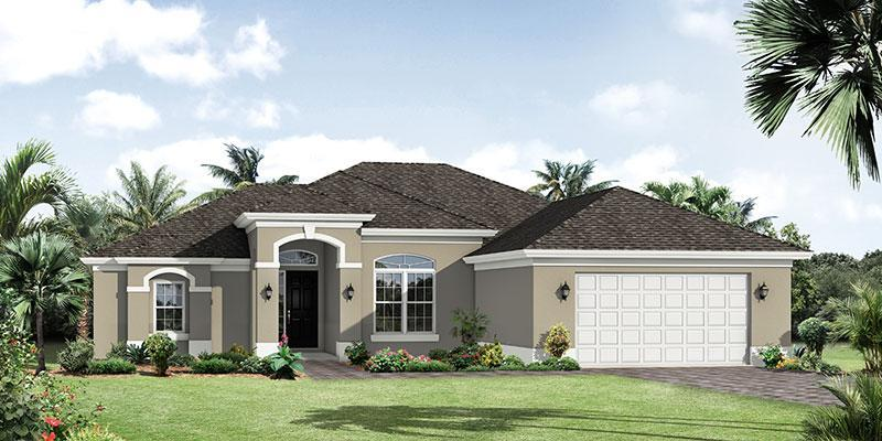 Exterior featured in the Amberjack By GHO Homes in Martin-St. Lucie-Okeechobee Counties, FL