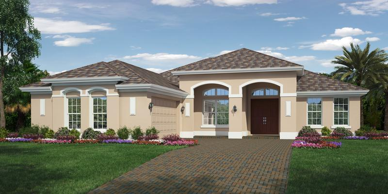 Exterior featured in the Tacoma LR By GHO Homes in Indian River County, FL