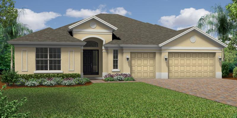 Exterior featured in the Baldwin By GHO Homes in Indian River County, FL