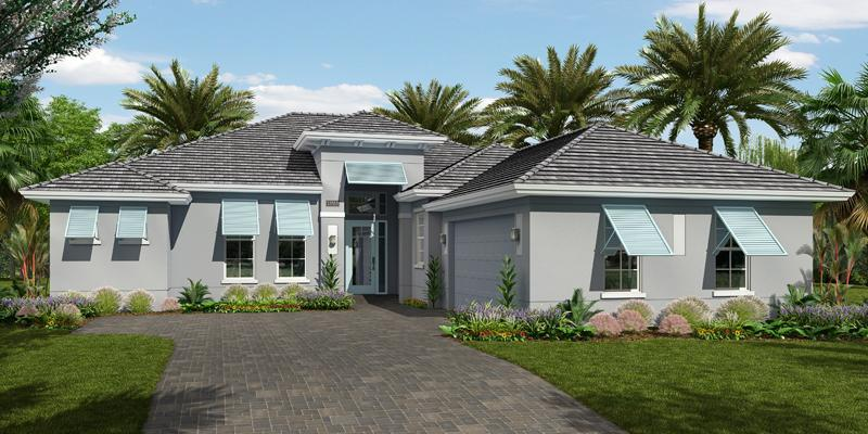 Exterior featured in the Pacifica By GHO Homes in Indian River County, FL