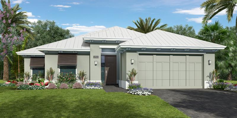Exterior featured in the Allura By GHO Homes in Indian River County, FL