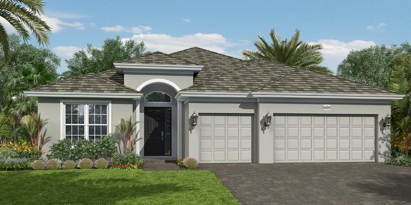 Exterior featured in the Capistrano Grande By GHO Homes in Indian River County, FL