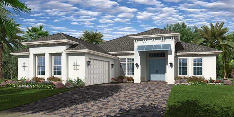 Exterior featured in the Tacoma By GHO Homes in Indian River County, FL