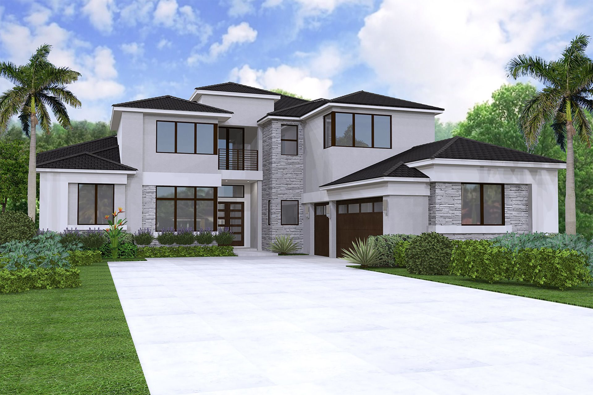Exterior featured in the Colonnade Grande Contemporary By GL Homes in Palm Beach County, FL