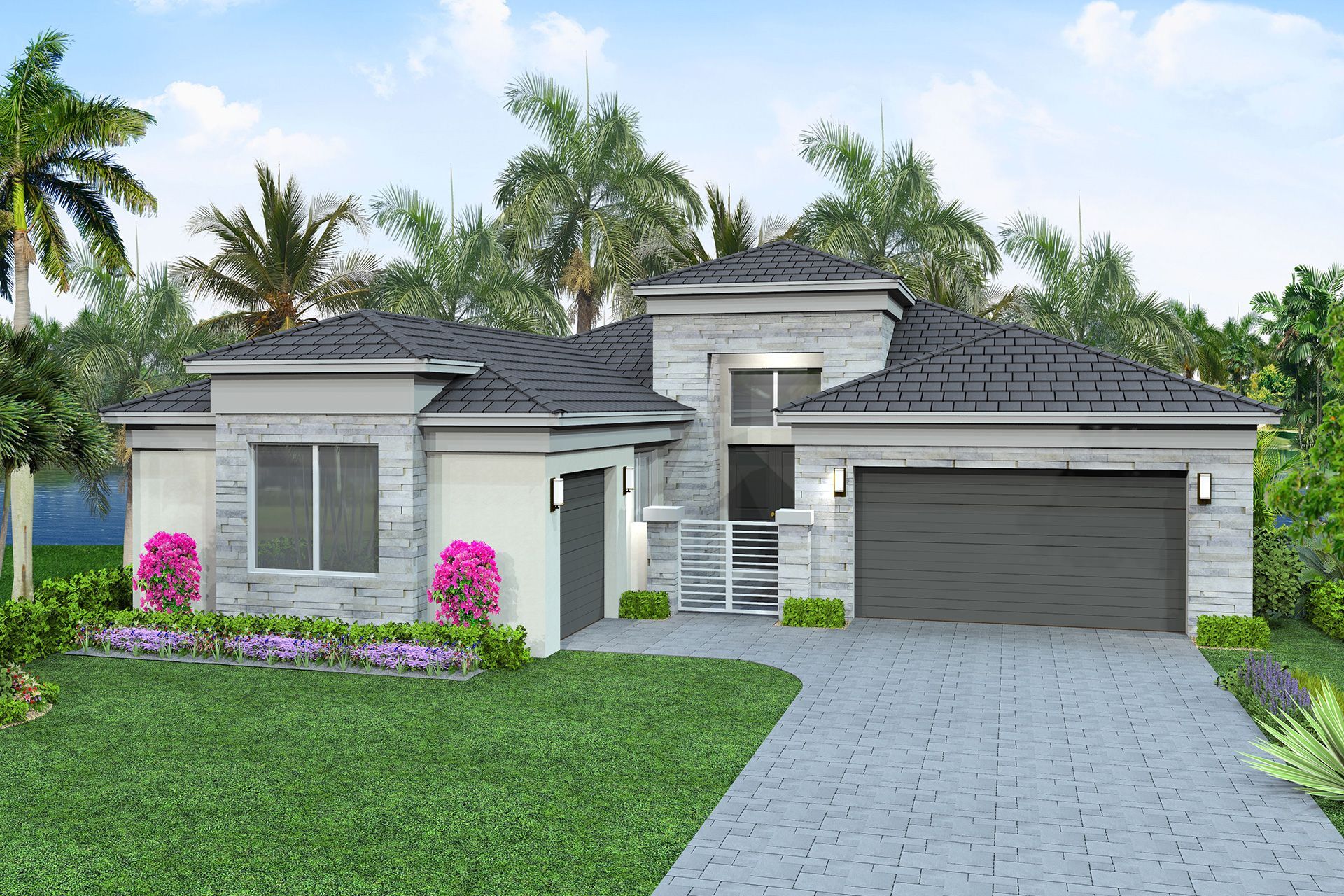 Exterior featured in the Caroline By GL Homes in Palm Beach County, FL